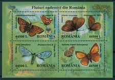 Rumänien 2002 Mi.Block 322 Schmetterlinge,Butterfly,Mariposa,Farfalla,Papillon