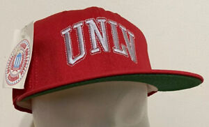 Vintage UNLV Rebels Snapback Red Hat Cap NCAA College Broner USA New With Tags