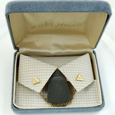 Collar Chain with Pins Goldtone New Old Stock Nos Triangular with Faux Pearl