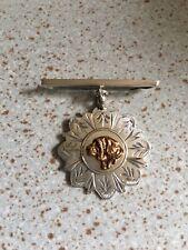Vintage Hallmarked Silver Cao D Fila Brasileiro,Brazilian Mastiff Dog Pin Brooch