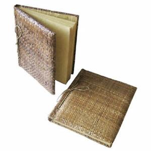 NOTIZBUCH aus Naturmaterialien BALI 16,5x22,5 cm Reispapier Adressbuch Tagebuch