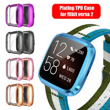 For Fitbit Versa 2 Watch Plating TPU Watch Case Full Cover Screen Protectors