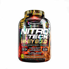 MuscleTech NitroTech Whey Gold, 100% Whey Protein Powder, Chocolate, 5.5 LBS