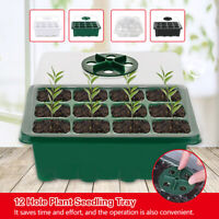 12-hole Plant Seedling Tray Seed Germination Tray With Dome Garden Grow Box Pot