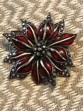 LC (LIZ CLAIBORNE) FLOWER PIN BROOCH-ENAMEL-BEAUTIFUL!!!!!!!