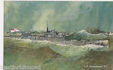 H.M. Submarine X 1 Art Postcard, B573