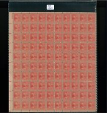 1938 United States Postage Stamp #827 Plate No. 22825 Mint Full Sheet