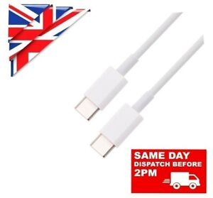 1M 2M USB C To USB C FAST CHARGE PD 60W DUAL TYPE C CHARGING DATA SYNC CABLE 1