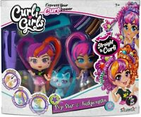Curli Girls 82080 Doll and Pet Twinset, Mixed Colours