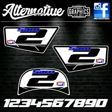 Number Board Sticker Decal for Yamaha PW50 PeeWee Stinger PW 50 Plastics Style 7