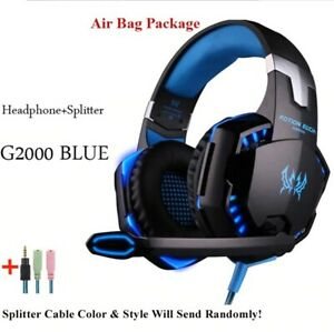 NEW Gaming Headsets Wired Headphones with Microphone Light For PS4 PC & Phones