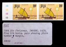 More details for fiji 1984 xmas 20c imperf plate marginal pair as described sale nl585