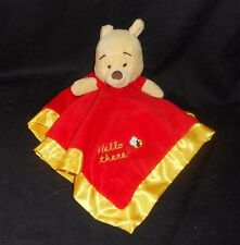 DISNEY BABY WINNIE THE POOH HELLO THERE SECURITY BLANKET STUFFED PLUSH TOY SOFT