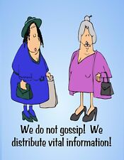 METAL FRIDGE MAGNET Do Not Gossip Distribute Information Friend Family Humor