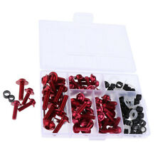 Kit Screw Bolt For Screws For Motorcycle Sportbike 158x Red New Useful