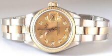 Authentic Rolex womens two tone 26mm  Diamond Dial Swiss Automatc Watch