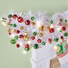 10 Ft Cordless LED Lighted Jingle Bells Christmas Garland