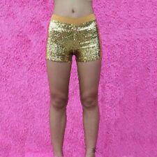 Women Sequins Shorts Disco Hot Pants Shiny Glitter Jazz Mini Short Stretch Dance