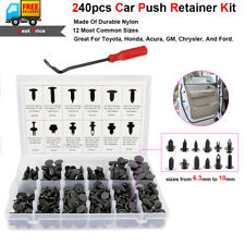 240Pcs Car Body Plastic Push Pin Rivet Fasteners Trim Moulding Clip Screwdriver