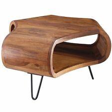 Massiver Couchtisch 55x55x38 cm Sheesham Wohnzimmertisch Holz Tisch Wohnzimmer