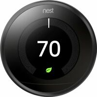 Nest 3rd Generation Learning Programmable Thermostat - Carbon Black