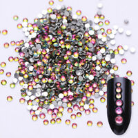 1440pcs Nail Art Rhinestones AB Colors Rose Gold Red Mixed Size 3D Decoration