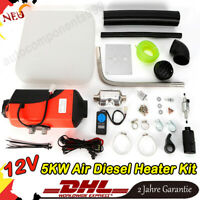5kW Air Diesel Heater Kit 12V for Car Boat Truck Bus Motorhome +Switch HOT SALE