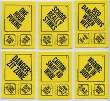 1986 SNOTTY SIGNS STICKER SET