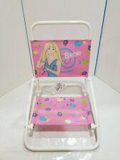 Vintage Barbie 1999 Mattel CHILD SIZE Folding Beach Chair Kids Pool Folds