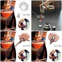 Stainless Steel Ice Filter Colander Cocktail Shaker Mixed Drink Strainer Bar Set