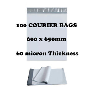 100 Poly Mailer 600x650mm Premium Courier Bags Self Sealing Mailing Satchel