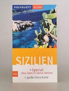 Reiseführer - Sizilien mit Große Extra - Karte von Polyglott- Nicole Catta