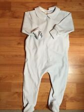 Molli Made In France Boutique Girls Sz. 18 Months Pale Blue Minky Footed Layette