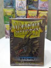 100 Dragon Shield Sleeves - Brown