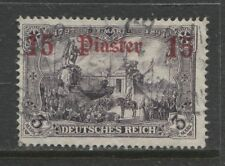 1912 German offices in TURKEY  15 Piaster  used - BEIRUT -  € 600.00 signed