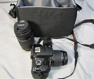 EXCELLENT Canon EOS Rebel T6 DSLR Camera 18-55mm Lens 75-300mm 1:4-5.6 III GS