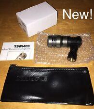CAD TSM411 Super Cardioid Microphone Dynamic Drum Tom Cajon Bongo+Shure Mic Case