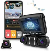 REXING S1 Pro Enhanced Dash Cam 3-Channel Front,Rear,Cabin 1080P+1080p+1080p