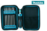 P-90037 Makita 16 Piece Kit Ratchet Screwdriver C/W 1/4 Hex Drive bits in Pouch