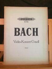 Bach Concerto pour violon en Sol mineur partition red. piano Schreck Peters 3069