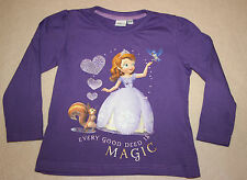 DISNEY t-shirt violet Princesse SOFIA THE FIRST  taille 2-3 ans NEUF
