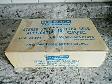 Vintage New Old Stock Hitachi Honda Civic Rear Car Speakers Must See No Reserve