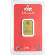 5 Gram RMC Republic Metals .9999 Fine Gold Bar in Assay