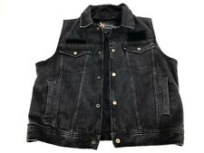 Xelement Denim Jean Cotton Lined Advanced Motorcycle Gear Vest Black Sz. Large