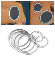 for BMW X5 E70 / X6 e71 2008- 2013 Steel Matte Door Speaker Ring Cover Trim 6pcs