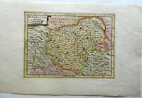 Berry France Biturigum Bourges County Map 1697 engraved map