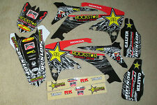 TEAM  ROCKSTAR  GRAPHICS & BLACK # PLATE BACKGROUNDS HONDA CRF250R  10 11 12 13