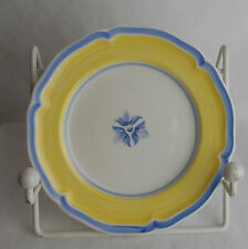"*New* Villeroy & Boch Casa Azul Limone 8 1/8"" Salad Plate Pattern #2524"