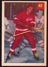 1954-55 PARKHURST #40 GLEN SKOV - DETROIT RED WINGS - HOCKEY CARD