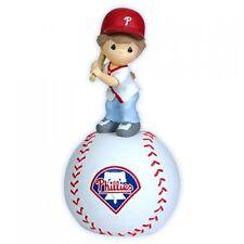 Precious Moment MLB Philadelphia Phillies Girl Playing Baseball Musical Figurine